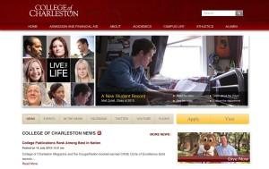 New CofC Homepage