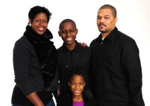 Natasha Adair and family