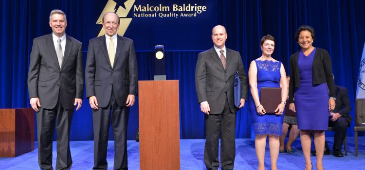 President Benson is Master of Ceremonies at Baldrige National Quality Award Ceremony