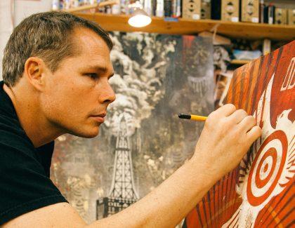 Halsey Exhibition Features Art of Shepard Fairey and Jasper Johns