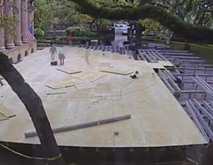 Cistern Stage Construction a Sign of Spring Commencement