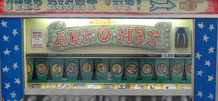 Art-o-mat: Retired Cigarette Machine in Halsey Dispenses Art and Fun