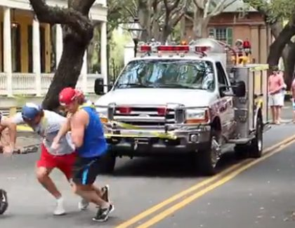 Frat Boys and Fire Truck Support Veterans