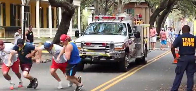 Frat Boys and Fire Truck Support Veterans