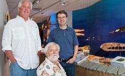 (l to r) Mace Brown, Jim Carew and Jonathan Geisler '95