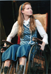 "Amanda Rose '02 as Nessarose in ""Wicked"""
