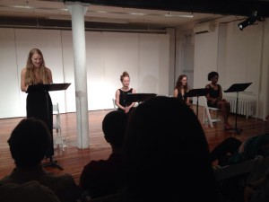 "A workshop reading of ""They Call Me Arethusa"" at Theatre Lab in New York City."