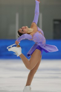 Jacquelin Zimmerman, a senior psychology major, competes at the 2014 U.S. Collegiate Figure Skating Championships.