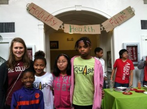 The Chucktown Squash kids held a health fair in the Johnson Center in 2013.