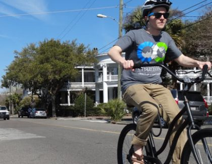 Cyclist Examines Charleston's Transportation Needs