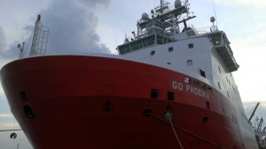 The GO Phoenix, one of the ships taking part in the search for Malaysia Airlines Flight 370.