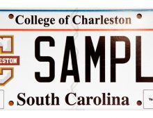 Lookin' Good, New College of Charleston License Plates!