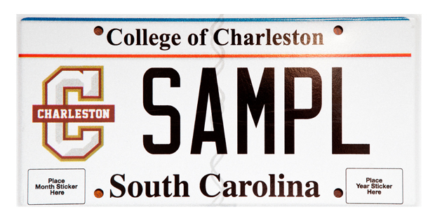 New college of charleston license plates for South carolina department of motor vehicles charleston sc