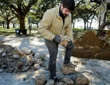 Graduate Student Digs Up Old Charleston City Wall for Thesis Research