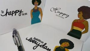 Robyn Palmer's greeting cards.