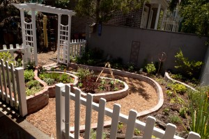 The new garden at ECDC is designed to be kid-friendly.