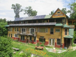 """A """"cohousing"""" facility at Earthaven."""