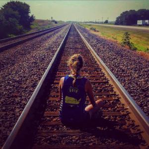 Ruegner on Railroad Tracks