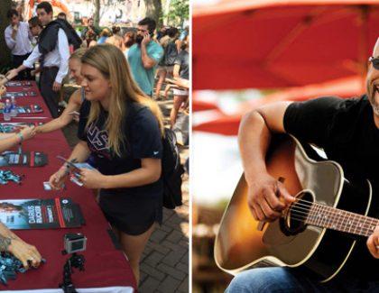 Darius Rucker Plays Pop-up Concert for CofC Students