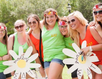 College Sororities Recognized for Excellence (has video)