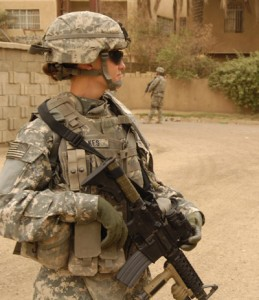 Jessica McMahan was awarded a Bronze Star for her service in Iraq.