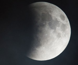 A supermoon is seen during a total lunar eclipse on Sept. 27, 2015, in Washington, DC. Photo Credit: (NASA/Aubrey Gemignani)