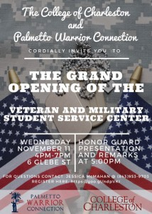 The grand opening of the Veteran and Military Student Service Center takes place on Nov. 11, 2015.