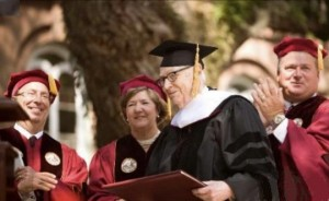 John Zeigler receives an honorary degree from the College of Charleston in 2011.