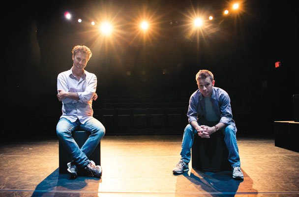 CofC theatre faculty member David Lee Nelson '00 and Brennen Reeves '14
