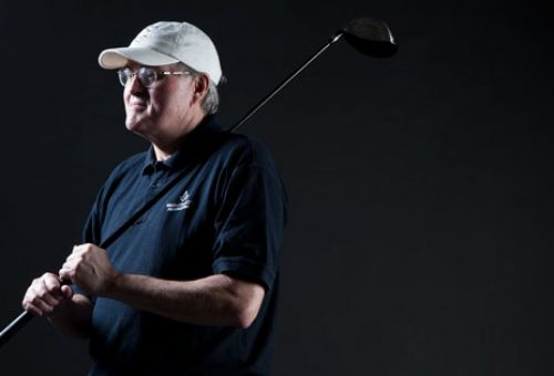 Blind Faculty Member Sets Sights High for Golf, Cycling and Running