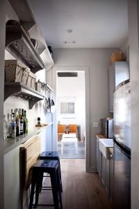 The tiny kitchen of a tiny house.