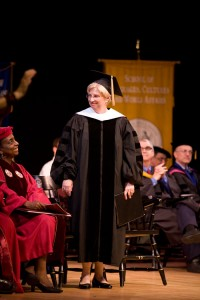Lucy Beckham '70 was the keynote speaker and recipient of an honorary degree at the College's 2010 Graduate School Commencement.