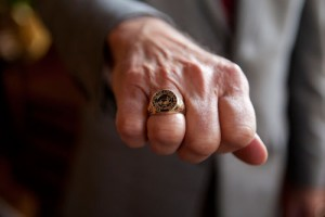 The official College of Charleston class ring adopted in 1995.