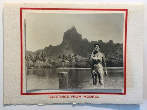 Gertrude Legendre's undated Christmas card from French Polynesia.