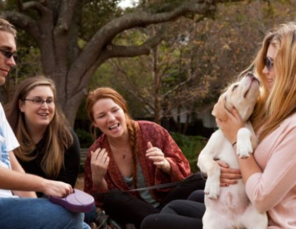 Finals Aren't So Stressful With Yoga, Puppies and Pancakes