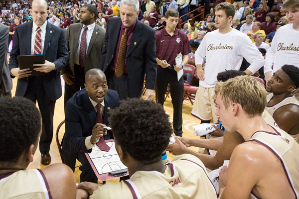 Coach Earl Grant in action during the Cougars upset of LSU.
