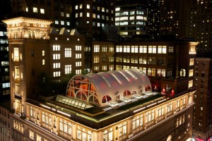 Carnegie Hall's Opening Night Gala Tent, Weill Terrace at Carnegie Hall. Photo: Julie Skarratt
