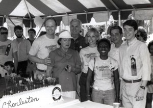 "Members of the College community celebrate ""Renaissance 200"" in 1985."