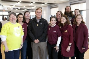 President Glenn McConnell '69 and College employees show their Cougar Spirit.