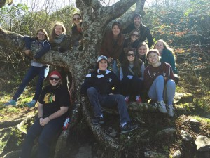 Students attended an Alternative Fall Break trip in Asheville, North Carolina this past fall