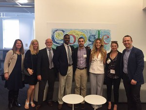 Students met with Aaron Hite '01 (far right), a CofC alum and advertising executive for Google