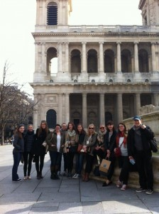 Students on a study abroad trip to Paris during Spring Break 2015