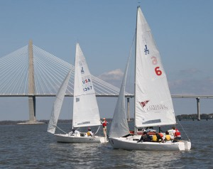 The College's fleet of J/22 sloops played a primary role in the Warrior Sailing Program's first ever Advanced Racing Camp.