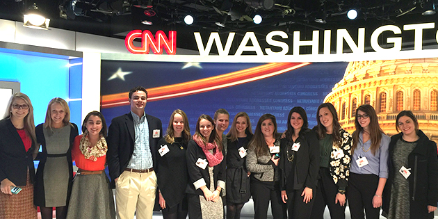Communication students are visiting Washington, D.C. and New York City over spring break to meet and learn from communication professionals at CNN, Google, Time, Inc. and other companies.