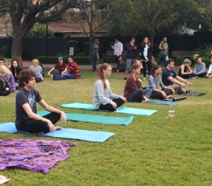 Give your mind a break from exams with free Yoga sessions.