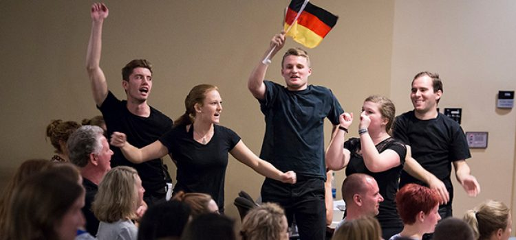 German Theater Students Put on Live Show for Final Project