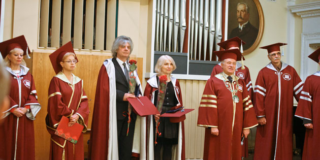 Music Professors Honored at Kiev Conservatory During Elaborate Ceremony