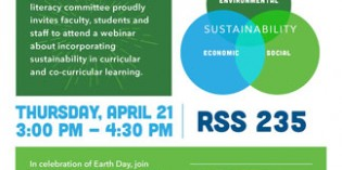 A Day Before Earth Day, Learn to Incorporate Sustainability Into Curricula