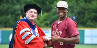 Senior Day Surprise: Provost Awards Degrees On Baseball Diamond