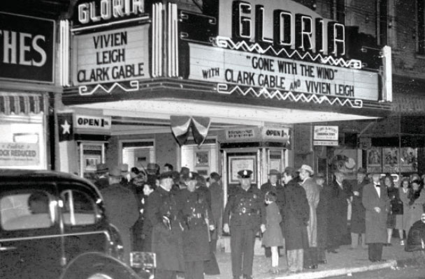 Gone with the Wind premiere, Gloria Theatre, College of Charleston